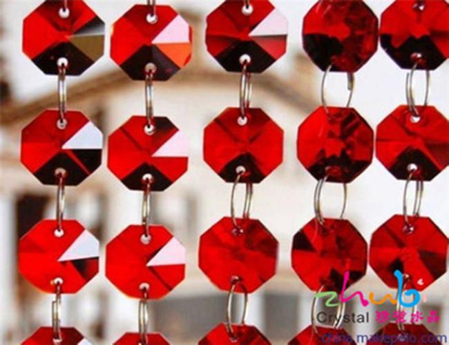שטוח Oxtagon קריסטל חרוזים עבור תכשיטי ביצוע 14mm זכוכית חרוזים עבור נברשות תליון תליית טיפות קישוט DIY אבזרים