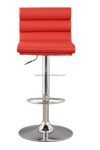 Home Bar Counter Leather Retro Bar Stool / Ridge Leather Bar Stool With Supplier Factory Price CL - 7055