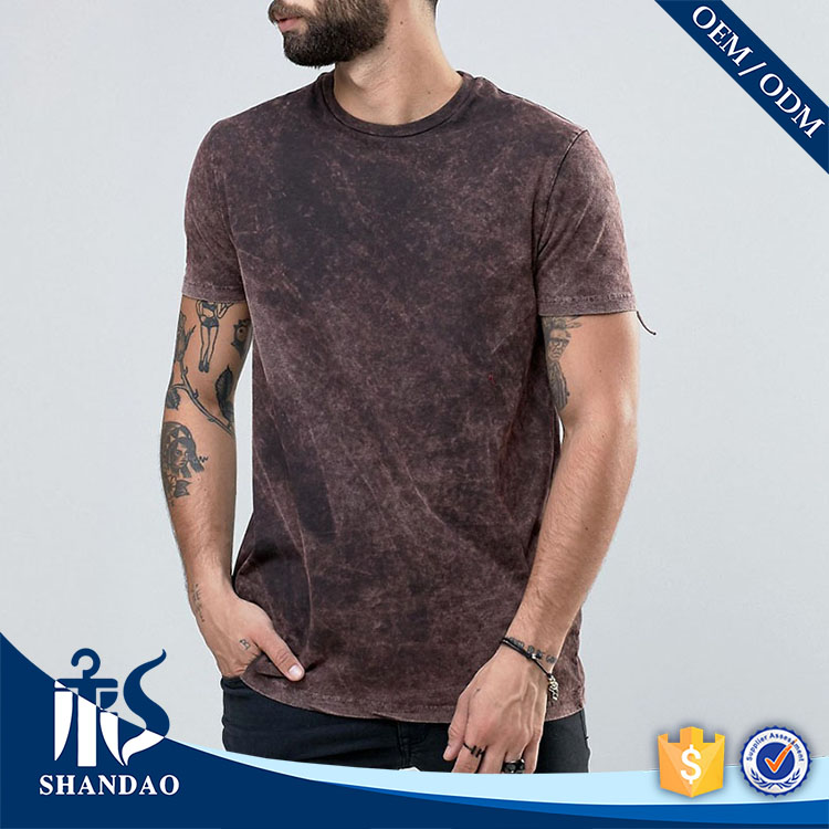 Shandao Newly Arrived Men's Fringe 160g 60% Cotton 40% Polyster O-Neck Short Sleeve t shirt buyers in canada