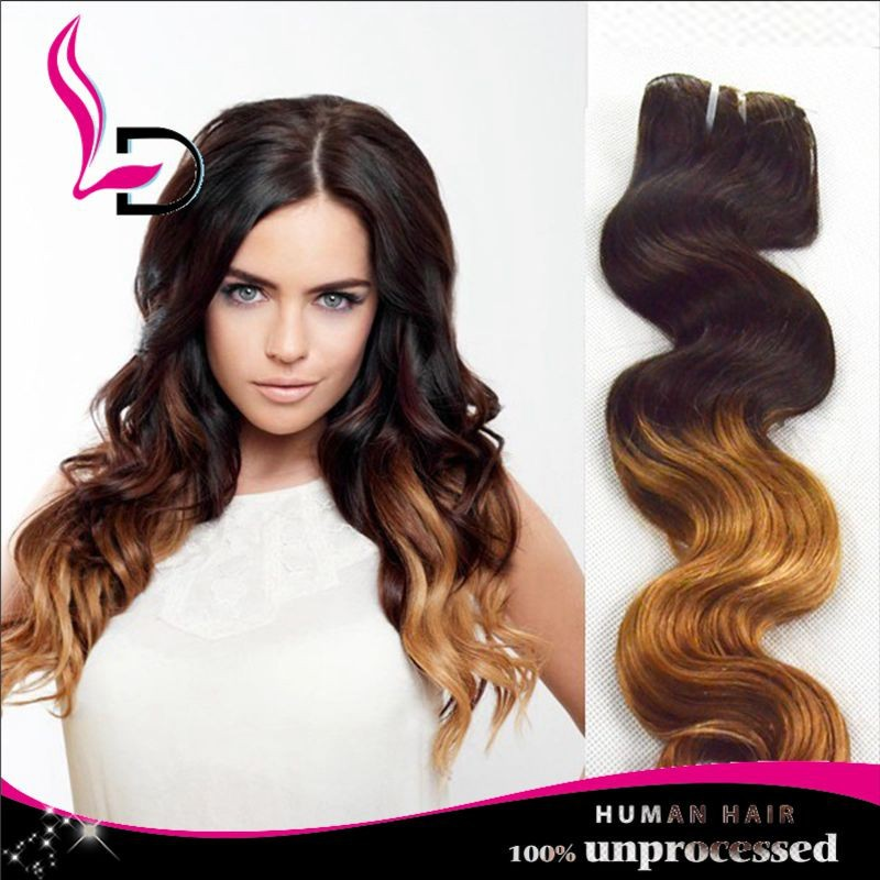 1b27 Color Brown Hair Weave Cheap Brazilian Body Wave Sewing
