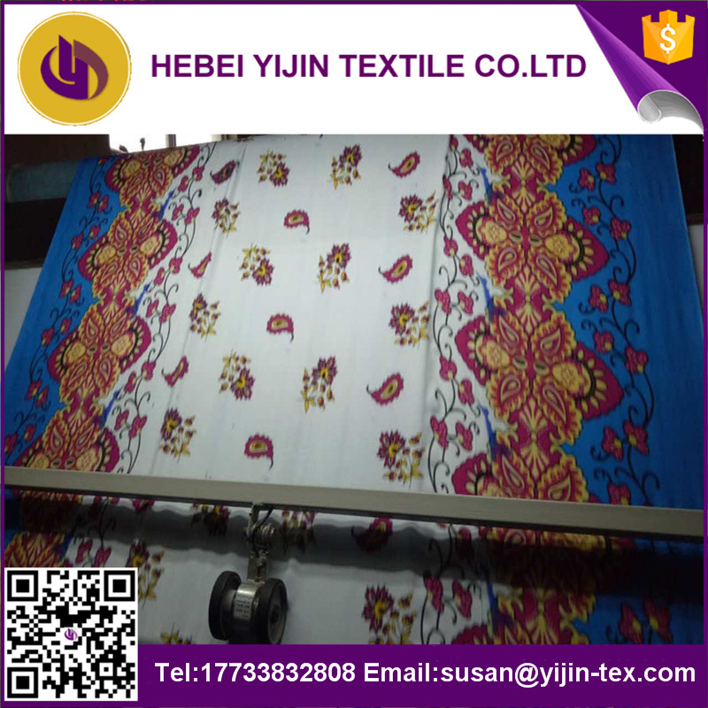 Chinese supplier high quality rayon fabric printed stocklot