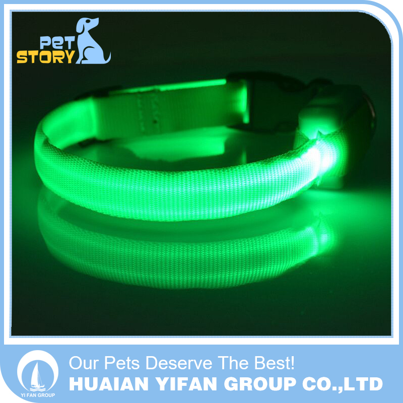 Nylon Pet LED Dog Collar Night Safety Flashing GlowLED Pet Supplies Dog Cat Collar Small Designer Products