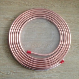 Top quality 15m(50FT)/roll Pancake Copper fin tube coil ASTM B280