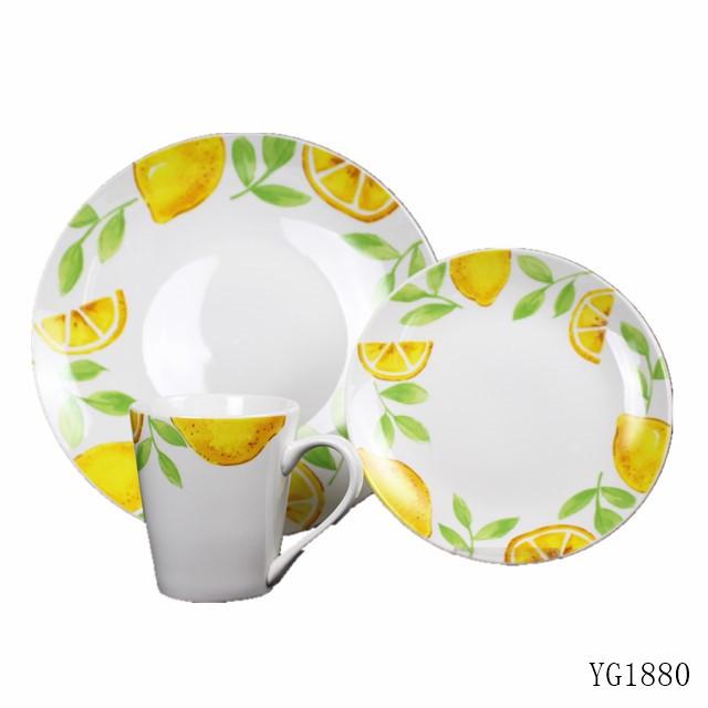 12 Piece Home Dinnerware Sets Porcelain