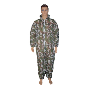 plastic disposable camouflage paintball coverall