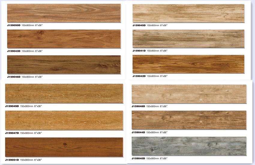 2015 Wooden Floor Tiles,imitation Wood Design Finish Look Ceramic Floor Tile,150x900  150x600