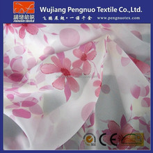 wholesale polyester flower printed chiffon fabric/silk chiffon floral printed fabric for woven's apparel