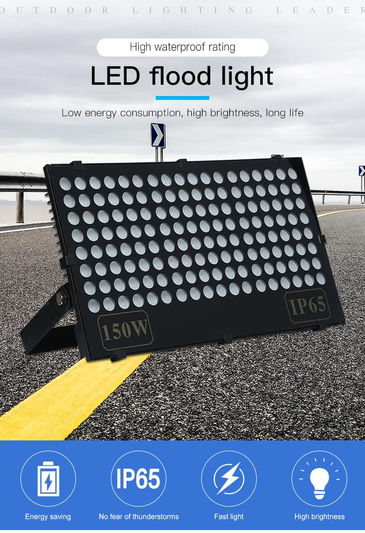 Stade de sport En Plein Air ip65 étanche diacasting aluminium 50 100 150 watts LED Lumière D'inondation