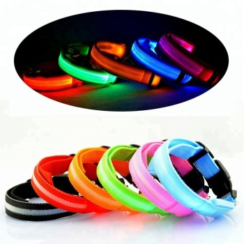 Led Dog Collar Flashing Light Pet Collar, Adjustable Led Dog Collar