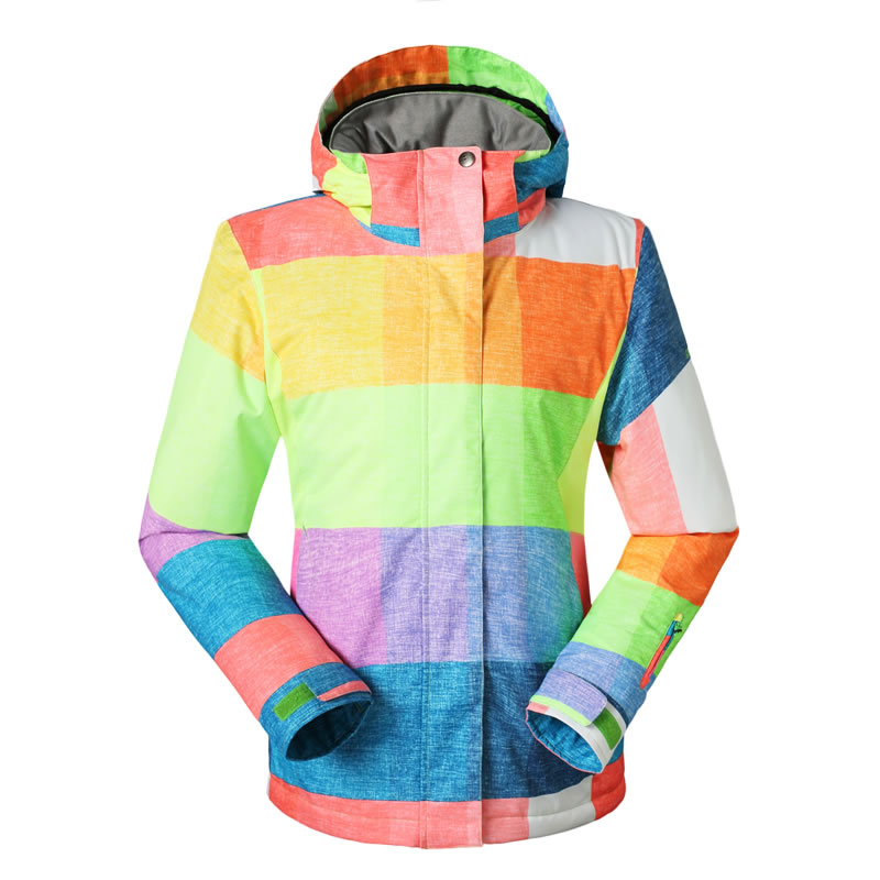 d0beb2385f Get Quotations · Gsou snow  s top outdoor ski suit square grid monoboard  women s ...