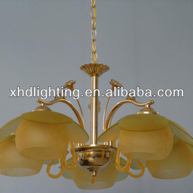 Classic Yellow Glass Pendant Lamp Chandelier