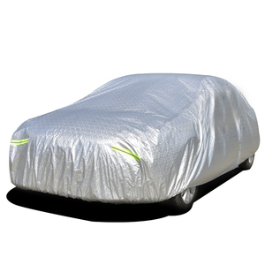 China Manufacture UV Protection 100% Waterproof Aluminum Foil Car Cover with Logo