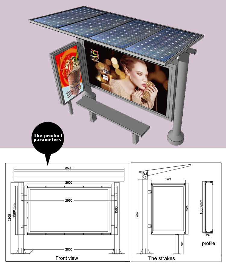 Outdoor Advertising Glass Notice Board Led Poster Frame