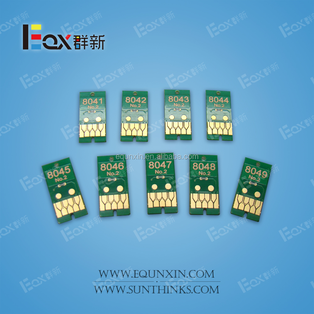 P6000 one time chip for US market printer T8041 T8049 one time chip cartridge chip