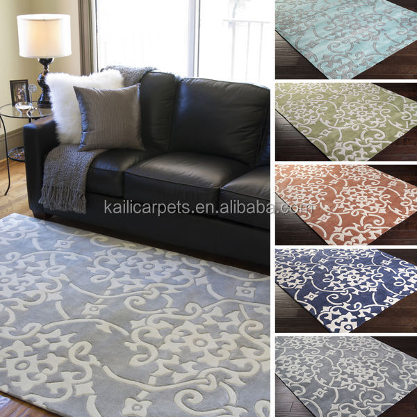 2x3 Hand tufted floral contemporary area rug