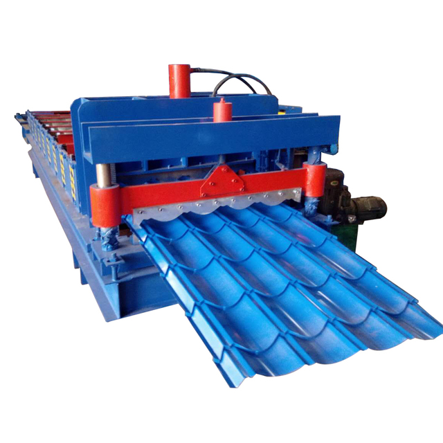 Building materical automatic glazed tile steel forming machine
