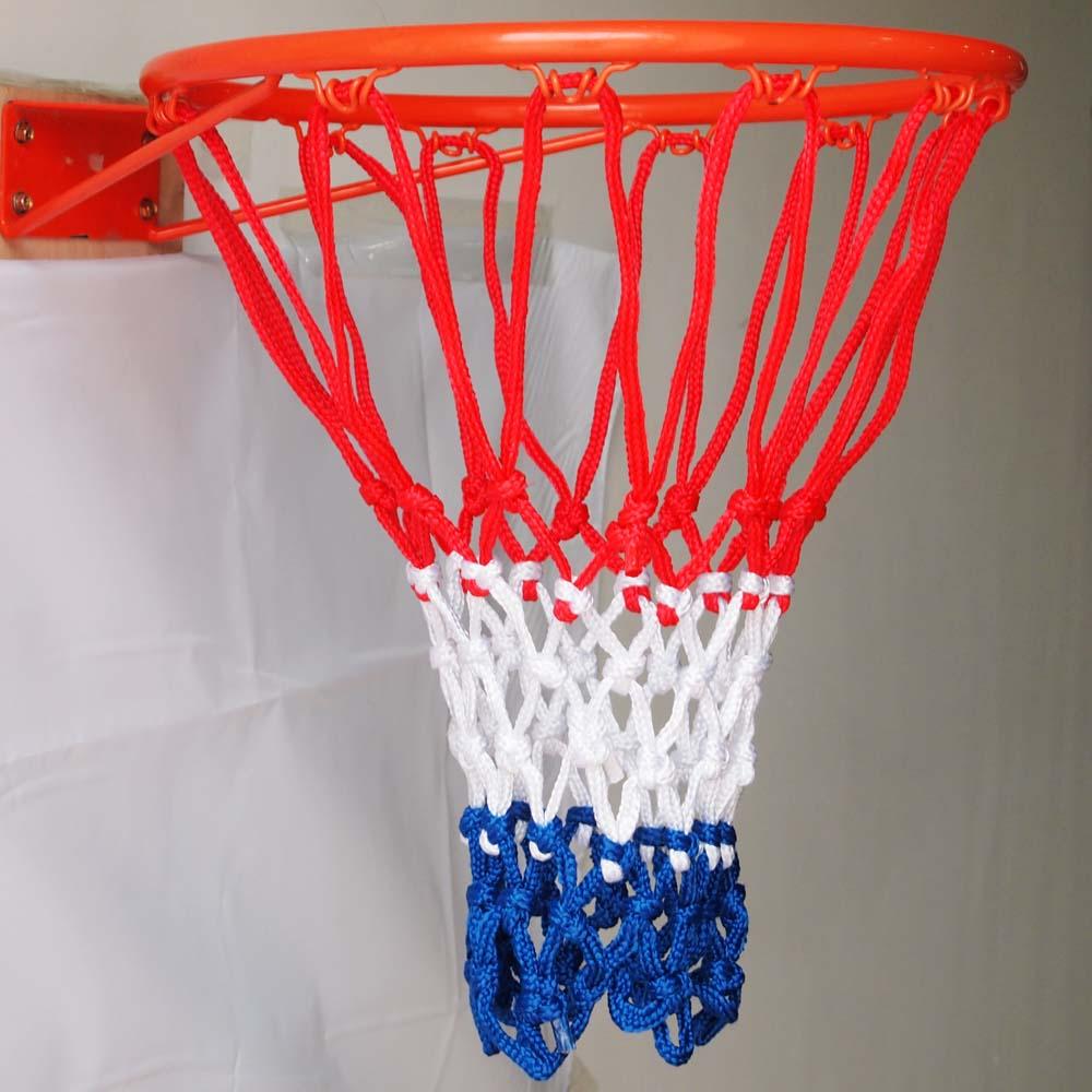 Alert 15 Length White Red Nylon Braided Basketball Football Mesh Net Bag Office & School Supplies