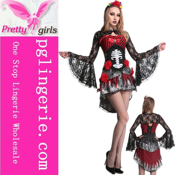 Sexy Black Witch Bride Dress Halloween Costumes For Woman carnival costumes dress