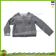 Little girl's motorcycle long sleeve denim jacket kids new design coat