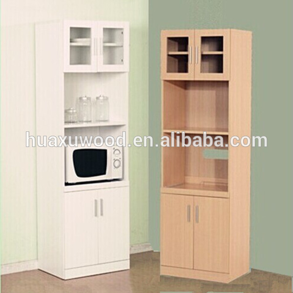 HX MZ764 Wooden Tall Microwave Oven Cabinet Sideboards