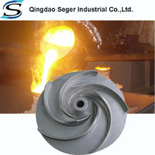 China supplier Stainless steel machined pump impeller investment casting