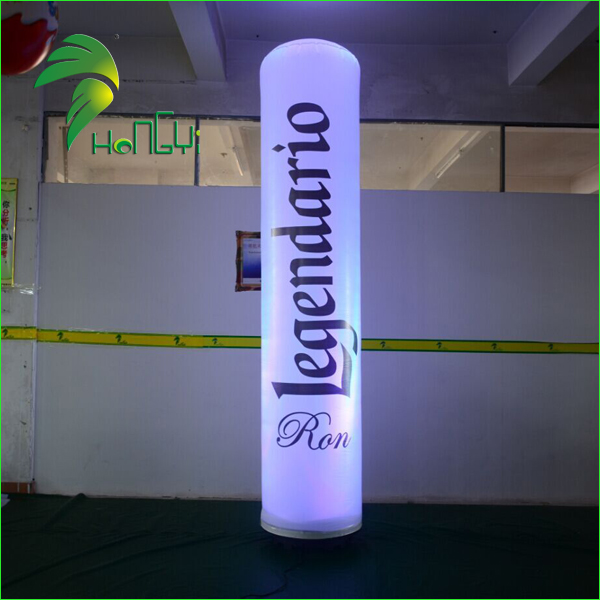 Customized Logo Inflatable Column Tube Balloon With Led Lighting