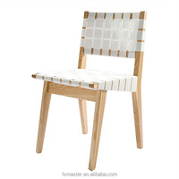 Jens Risom dining room side ash wood bandage chair
