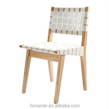 Jens Risom Dinning Room Furniture Side Chair Restaurant Ash Bandage Chair