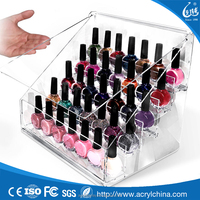 Acrylic DIY Cosmetic Organizer Lid Drawers Storage For nail & make up