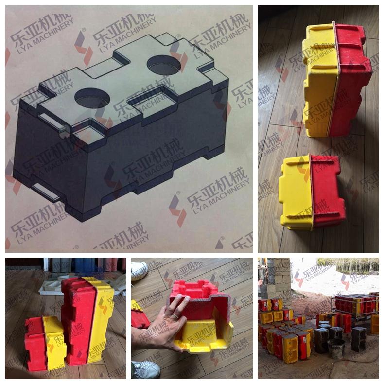 Plastic Mould Interlocking Molds Concrete Hollow Blocks Bricks ...