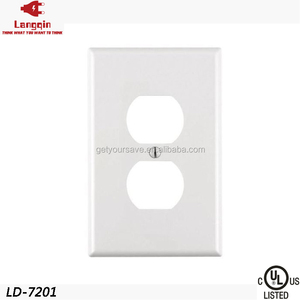 Shanghai UL Listed One 1Gang Plastic Material Electrical Duplex Power Outlet Cover Plate