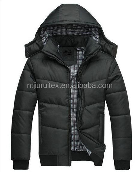 oem manufactures outdoor polyester warm new product casual padded jackets with hoodie