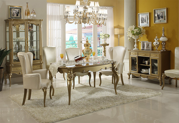 High Quality 5417# Antique White Dining Room Furniture Sets - Buy ...