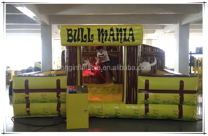 Crazy Outdoor Playground Rodeo Bull Sport Game Inflatable Mechanical Bull Riding For Sale