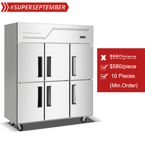 Six-door air blast Freezer Refrigerator for Kitchen and catering company