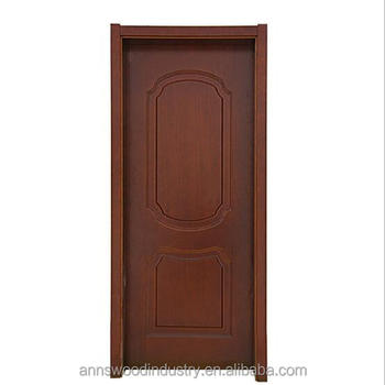 Stoving Varnish Great Color Interior Pvc Wood Door For Bedroom