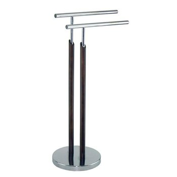 towel holder stand. Two- Rail Vertical Round Metal Tube Towel Holder Stand