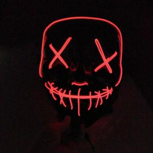 Light Up Glow Neon EL Wire Mask for Halloween party Mask