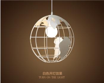 Nordic modern cord globe ball pendant light world map e27 lamp white nordic modern cord globe ball pendant light world map e27 lamp white and black for living gumiabroncs Images