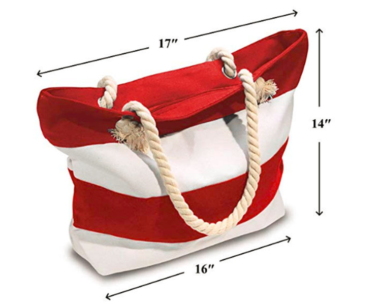 Hot sale wholesale fashion foldable women summer custom canvas beach tote bag