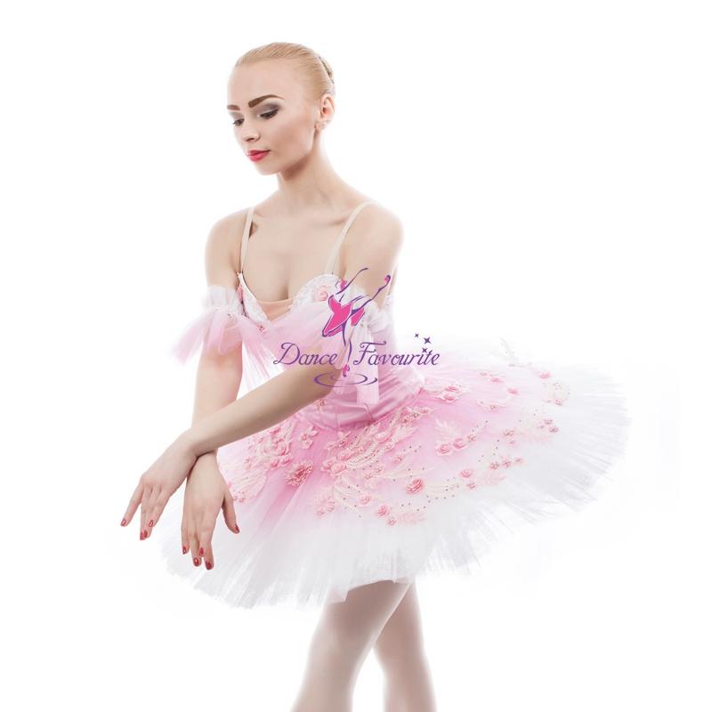3980b5c2b7bd7 Women's Professional Customize Costume Ballerina Dress Generous Fairy Pink  Sleeping Beauty Ballet Dance Classical Tutu B17047