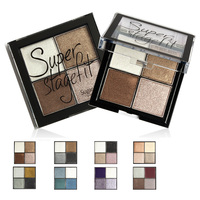Most popular cosmetics 4 colors eyeshaow gold shimmer powder makeup eyeshadow