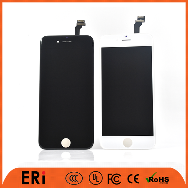 2017 glass stable android phone lcd display screen white and black with olephobic coating for iphone 6, smart phone LCD