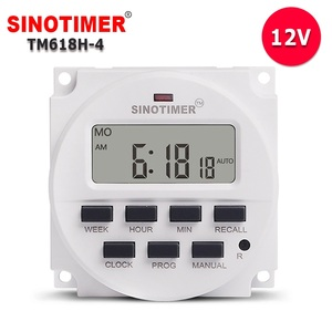 12VDC/AC 7 Days Weekly Programmable Digital Electronic LED Lighting Timer