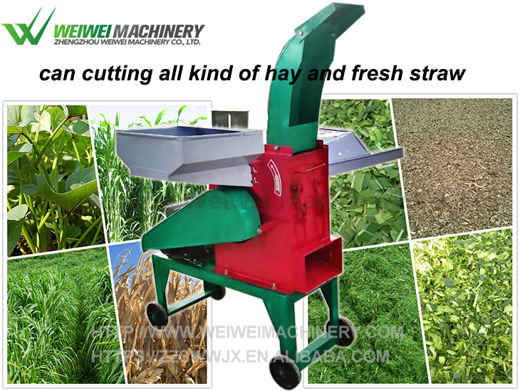 Grass crusher cutting and crushing straws and stalks