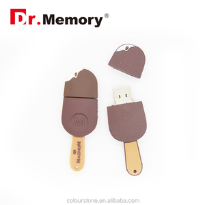 Dr.memory Soft silicone USB,cartoon style usb ice cream shape pen drivers wholesale 4GB 8GB16GB