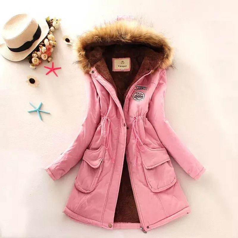 2015 New Long Parkas Female Women Winter Coat Thickening Cotton Winter Jacket Womens Outwear Parkas for Women Winter 11 Color