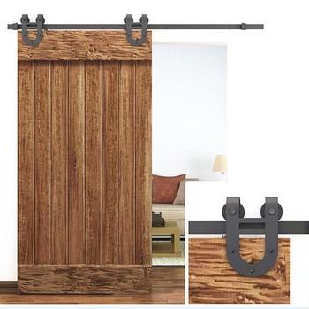Antique Rustic Black Sliding Barn Wood Door Track Kit Hardware Buy