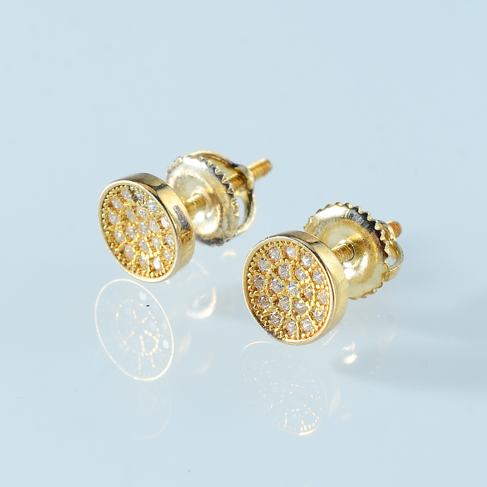 Bishun 14k Yellow Gold And White Gold Rose Gold Round Hoops Earrings for Women Girls