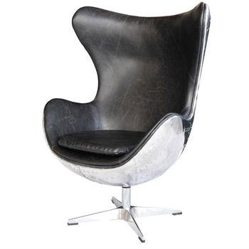 Jahrgang Spitfire Luftfahrt Leder Egg Chair